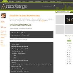 Configuration d'un serveur dédié pour votre blog