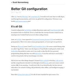 Better Git configuration