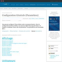 Configuration Générale (Paramètres)