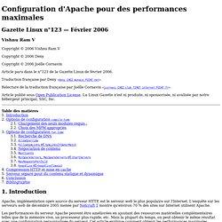 Configuration d'Apache pour des performances maximales