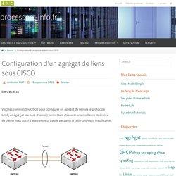 Configuration d'un agrégat de liens sous CISCO