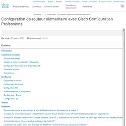 Configuration de routeur élémentaire avec Cisco Configuration Professional