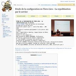 Etude de la configuration en Tiers-Lieu - La repolitisation par le service