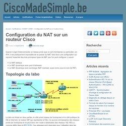 Configuration du NAT sur un routeur Cisco