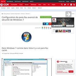 Configuration du pare-feu avancé de sécurité de Windows 7