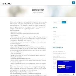 Configuration - Tp-Link Login