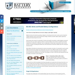 Serial and Parallel Battery Configurations and Information