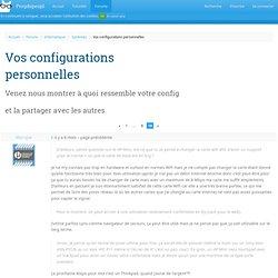 Vos configurations personnelles · Forums · Progdupeupl