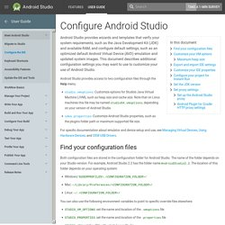 Configure Android Studio