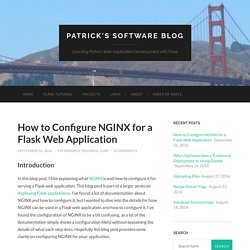 How to Configure NGINX for a Flask Web Application – Patrick's Software Blog