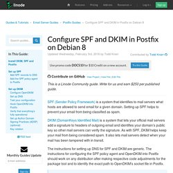 Configure SPF and DKIM in Postfix on Debian 8