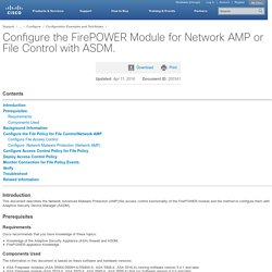 Configure the FirePOWER Module for Network AMP or File Control with ASDM.