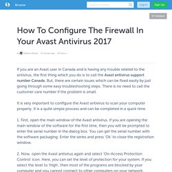 How To Configure The Firewall In Your Avast Antivirus 2017