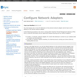 Configure Network Adapters
