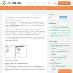 Configure OpenGeo Suite with QGIS