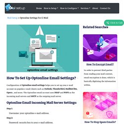 Simple Steps To Configure Optonline Email Settings