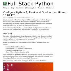Configure Python 3, Flask and Gunicorn on Ubuntu 18.04 LTS