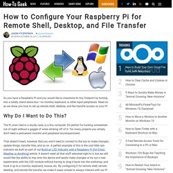 How to Configure Your Raspberry Pi for Remote Shell, Desktop, and File Transfer