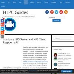 Configure NFS Server and NFS Client Raspberry Pi