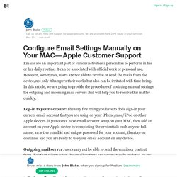 Configure Email Settings Manually on Your MAC — Apple Customer Support