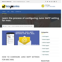 Configure Juno SMTP Settings For Mac Mail