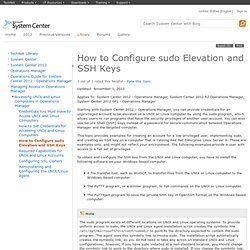 How to Configure sudo Elevation and SSH Keys