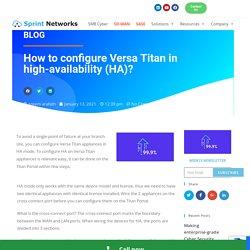 How to configure Versa Titan in high-availability (HA)?