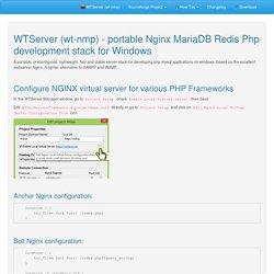 Configure NGINX virtual server for various PHP Frameworks