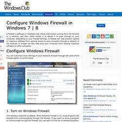 How to configure Windows 7 Firewall