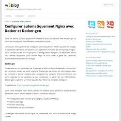 Configurer automatiquement Nginx avec Docker et Docker-gen