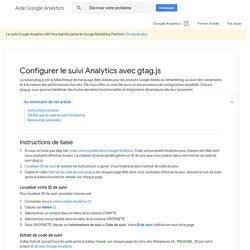 Configurer le code de suivi d'un site Web - Centre d'aide GoogleAnalytics