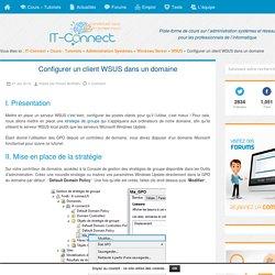 Configurer un client WSUS dans un domaine
