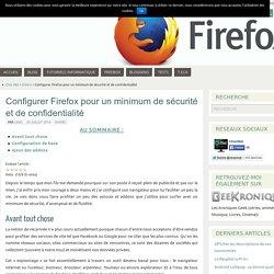 Configurer Firefox pour un minimum de sécurité et de confidentialité - Chez Mat