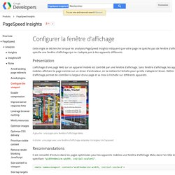 Configurer la fenêtre d'affichage - PageSpeed Insights