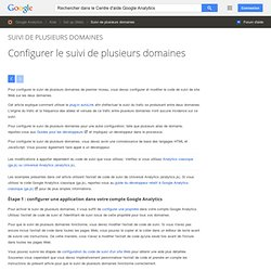 Configurer le suivi de plusieurs domaines - Centre d'aide GoogleAnalytics