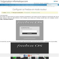 Configurer sa freebox en mode routeur