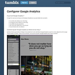 Configurer Google Analytics