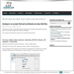 Configurer un compte Hotmail ou Outlook.com dans Mail Mac