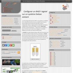 Configurer un RAID1 logiciel sur un système Debian existant - www.cypouz.com