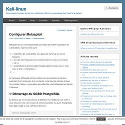 Configurer Metasploit – Kali-linux