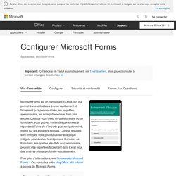 Configurer Microsoft Forms
