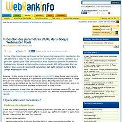 Tutoriel : configurer les paramètres d'URL dans Google Webmaster Tools