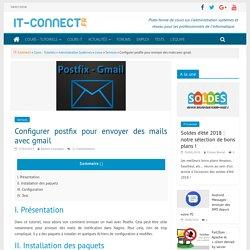 Configurer postfix pour envoyer des mails avec gmail