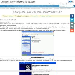 Configurer un réseau local sous Windows