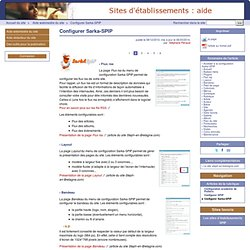 Configurer Sarka-SPIP - Site d'aide de l'offre SPIP établissement