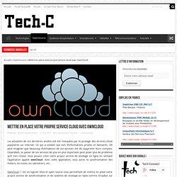 Configurer son propre service cloud avec OwnCloud