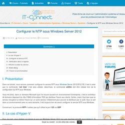 Configurer le NTP sous Windows Server 2012