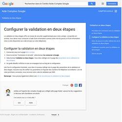 Configuration - Centre d'aide Comptes Google