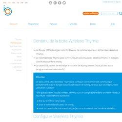Configurer le Wireless Thymio