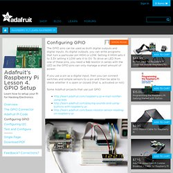 Adafruit's Raspberry Pi Lesson 4. GPIO Setup
